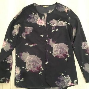 Silence & Noise Floral Blouse Long Sleeves